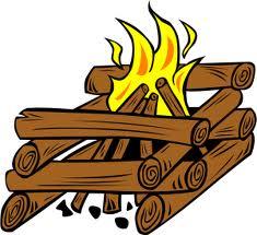 Log Cabin-style Campfire