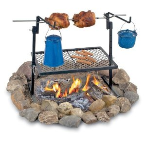 Campfire Cooking Grate Rotisserie