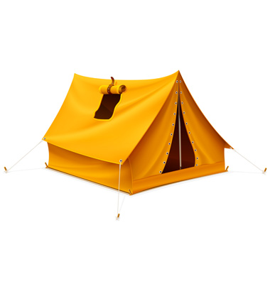 Large wedge-tent