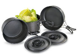 camping pots and pans cooking set