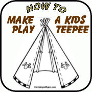 kid's teepee for camp