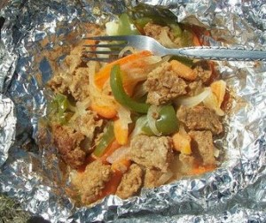 hobo tin foil stew