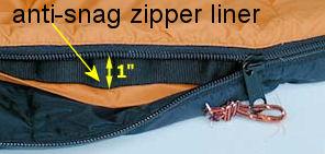 double sided sleeping bag zipper