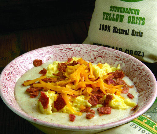 camping breakfast recipes cheesy grits breakfast bowl