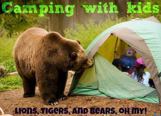 tent camping with kids and bears