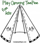 camp teepee rope