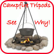campfire cooking tripod and grill