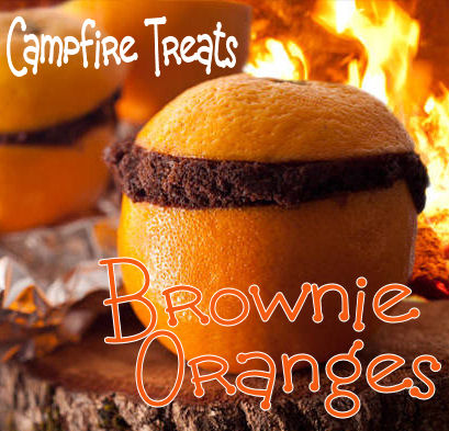 campfire orange brownies and cakes