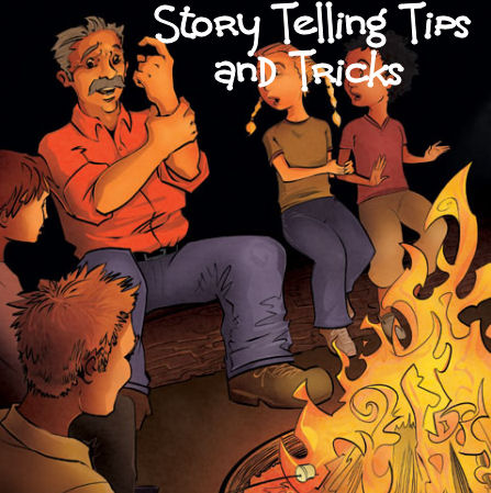 kids around the campfire story telling