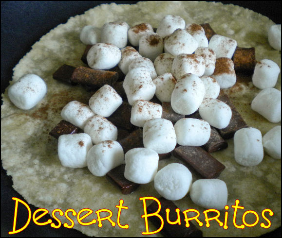 CampingwithGus.com Dessert Burritos camping recipes for kids
