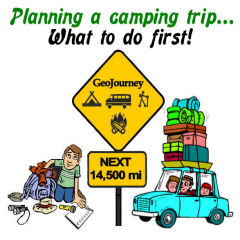 Planning a Camping Trip Roadsign