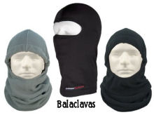 Balaclavas for winter outer layer on the head