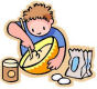 CampingwithGus.com Kid Stirring Camp Food Bowl - Camping Recipes for kids