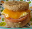 Easy Camping Breakfast Recipes -Ham & Egg Muffin