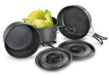 Camp Cooking Pots and Pans Set