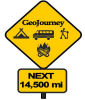 camping trip road sign