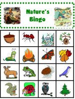 CampingwithGus.com Kid's Nature's Bingo card