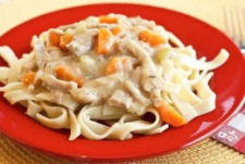 Creamy Chicken and Noodles camp Dinner Meal