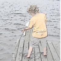boy crabbing