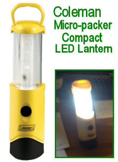 Coleman Micro-packer LED camping tent lights