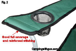 camping chair good stitching features
