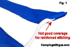 camping chair bad stitching features