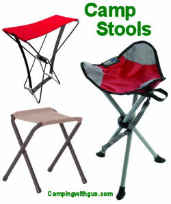 Collapsible camp stools
