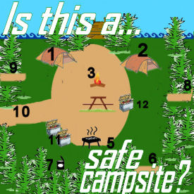 kid safe campsite layout