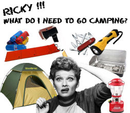 I love Lucy going camping