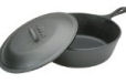 camping cast iron skillet with lid