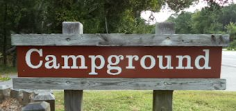 Camping Trip campground Sign: