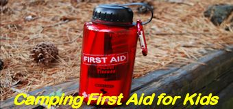 Camping first aid kit for kids