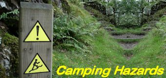 Camping hazard warning signs