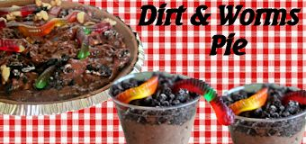Camping Dirt and Worms Pie