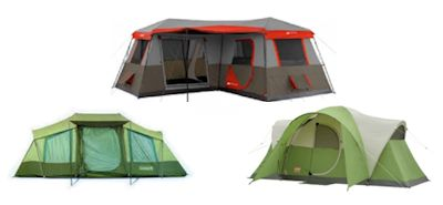 Multiroom family cabin camping tents