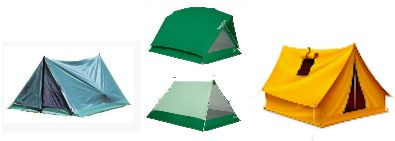 A frame wedge shaped camping tents Pup-Tent