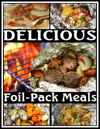 tin-foil camping meals