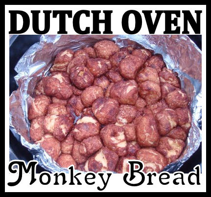 Dutch Oven Monkey Bread Campfire Treat