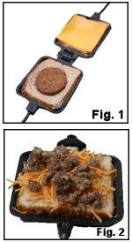 Pie Iron Sausage and Cheese Breakfast Sandwich