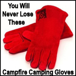HD Leather Campfire Camping Gloves